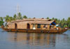A two bedroom deluxe houseboat.